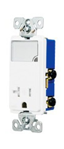 Cooper Wiring Devices Tr7736V-Box 3-Wire Receptacle Combo Nightlight With Tamper Resistant 2-Pole, Ivory front-897442