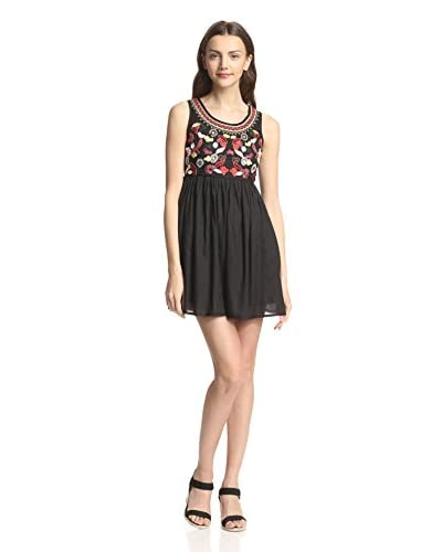 Raga Women's Sleeveless Embroidered Short Dress