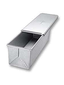 USA Pans 13 x 4 x 4-Inch Pullman Aluminized Steel with Americoat