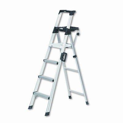 Six Foot Lightweight Aluminum Folding Step Ladder With Leg