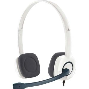 Logitech H150 Headset. Stereo Headset H150 Headst. Stereo - White - Mini-Phone - Wired - Over-The-Head - Binaural Snr - Semi-Open - Noise Cancelling Microphone