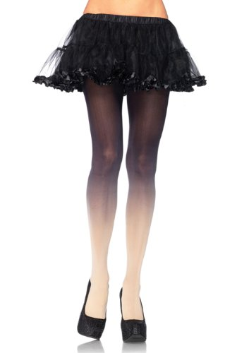 LA7291 (Black/Nude) Two Tone Opaque Tights
