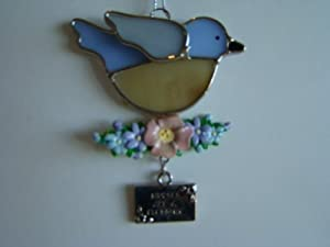 Nurses are a Blessing Summer Bird Stained Glass Suncatcher Ornament (EA1996)