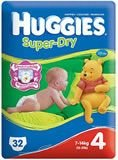 Huggies Super Dry Size 4 30'S