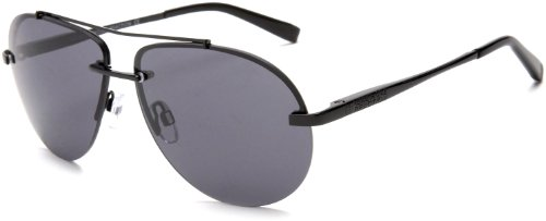Kenneth Cole REACTION KC2321S Aviator Sunglasses,Black Frame/SMoke Lens,One Size