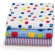 Baby Monsters 3-Pack Printed Receiving Blankets Graco - 1