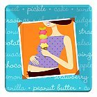 Mommy Chic Baby Shower Square Dessert Plate front-561587