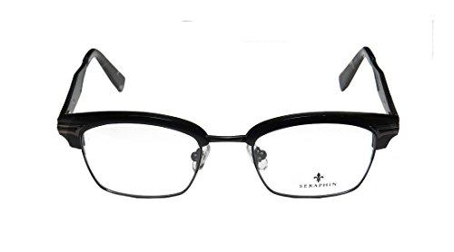 [Seraphin Garfield Mens/Womens Vision Care Top-quality Materials Designer Full-rim Titanium Eyeglasses/Eyewear (49-20-145, Black /] (Full Plastic Iron Man Costume For Sale)