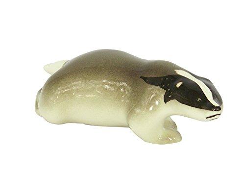 Lomonosov Porcelain Collectible Figurine Sculpture Running Forest Badger
