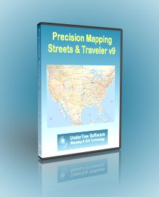 Precision Mapping Streets and Traveler V9 - Map & Travel Planning Software