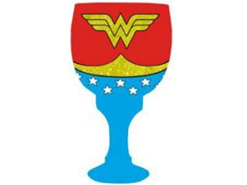 Wonder Woman 40 oz Glass Goblet