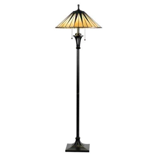 Marvelous Quoizel Gotham Tiffany Light Floor Lamp