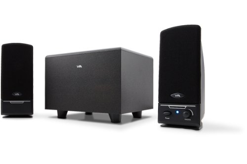 Cyber Acoustics CA-3001RB 3 Piece Subwoofer and Satellite Speaker System (Black)