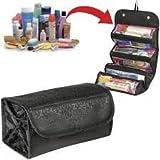 #1: Pindia Black Roll N Go Travel Buddy Toiletry Bag