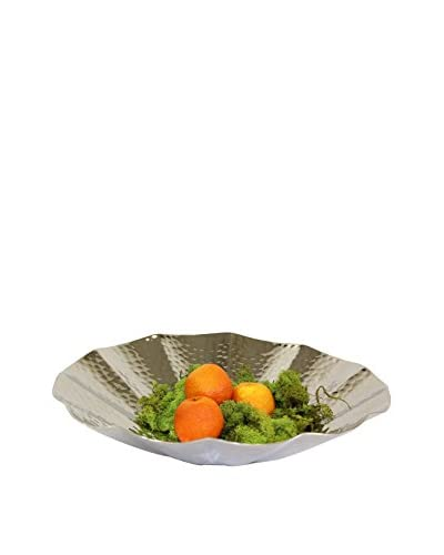 Pampa Bay Royal Silver-Tone Scalloped Bowl