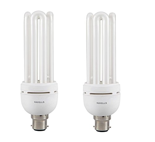 Spiral 35 Watt CFL Bulb (Cool Day Light,Pack of 2)