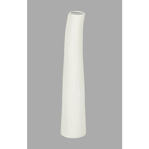 "Keramik Vase ""RESSINA"" cm 20 cm. Handgefertigt, in WEISS -40"