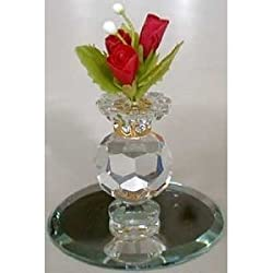 Crystal Vase with Roses