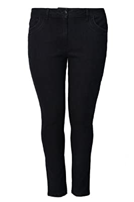Yoursclothing Plus Size Womens Skinny Jeans With Stitch Detail
