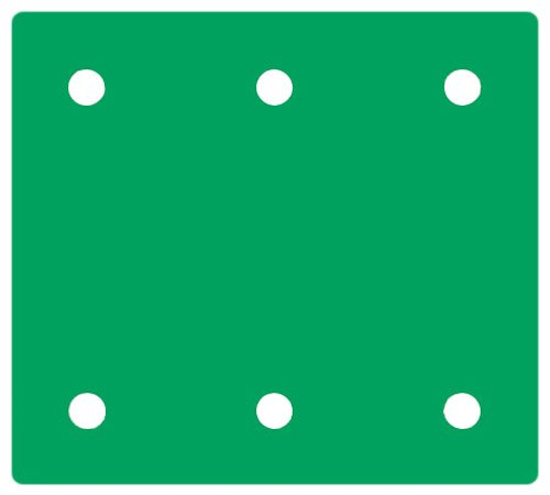 Hitachi 310344 4-3/8-Inch By 4-Inch Perforated Hook And Loop Sandpaper With Aa60 Grit, 10-Pack