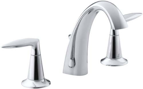 KOHLER K-45102-4-CP Alteo Widespread Lavatory Faucet, Polished Chrome