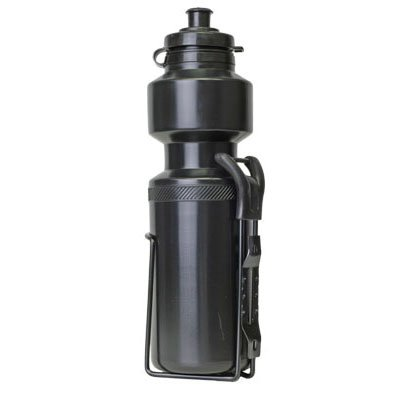 Sunlite 28 oz Bicycle Water Bottle with Cage, Black