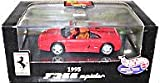 Hot Wheels Collectibles - Ferrari - 1995 F355 Spider (Open-Top) - 1:43 Scale Collector Car Replica. Red Body Color. Comes Mounted in Collector Display Case.