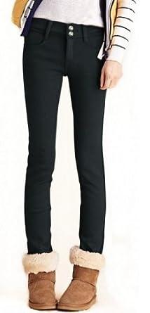 Women's Elastic Waist Super Soft Skinny Jeggings, Style 2-Black, S/M