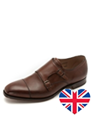 Best of British Leather Double Buckle Monk Shoes