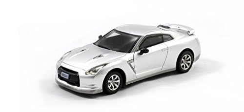 Nissan GT-R Mini Licensed RC Car - 1/43 Scale - Gray (Rc Nissan Gtr compare prices)