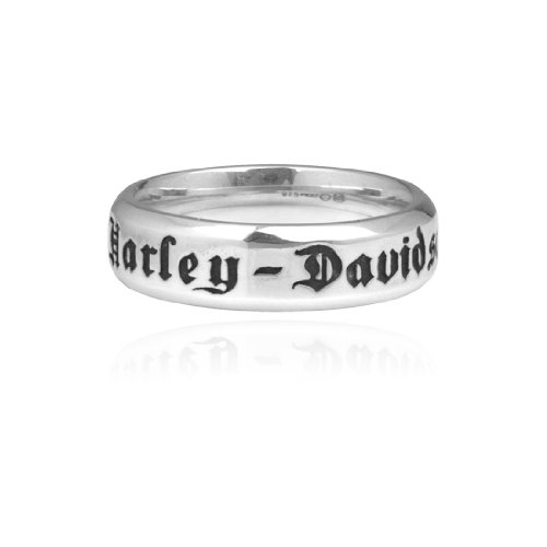 Harley Davidson Beveled Band Sterling Size 5 Ring HDR0217, Couple's Women Band by MOD