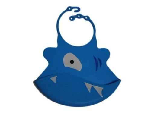 よだれかけ エプロン スタイ ベビー 赤ちゃん サメさん シリコンゴム 防水 おもしろ YBS