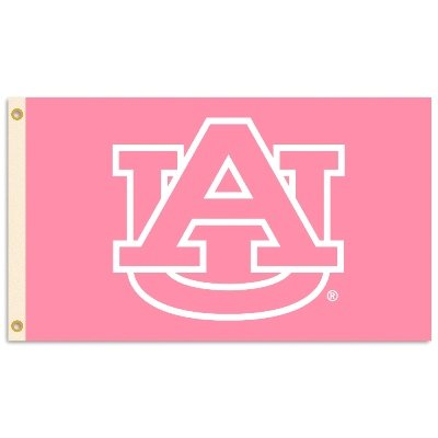 Auburn Tigers 3 Ft. X 5 Ft. Flag W/Grommets - Pink Design at Amazon.com