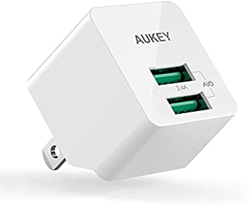 Aukey 2.4A USB Wall Charge w/Foldable Plug