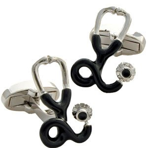 Cheap Doctor's Stethoscope Cufflinks – Nurse, Medical (B003Y57Q8M)