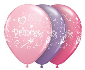 "Single Source Party Supplies - 11"" Princess Latex Balloons Bag of 10"