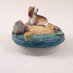 Basset Hound Candle Topper Tiny One \