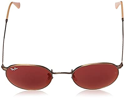 Ray-Ban Round Metal Sunglasses in Brushed Bronze Red Mirror RB3447 167/2K 50