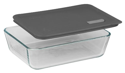 Pyrex No Leak Lids 3 Cup Rectangle Baking Dish with Plastic Lid