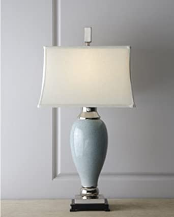 elegant blue frozen water porcelain ceramic table lamp. Black Bedroom Furniture Sets. Home Design Ideas