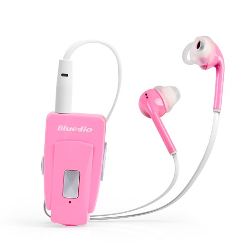 Bluedio Eh Bluetooth Stereo Headset/In-Ear Earphones Bluetooth 4.0 Nfc Wireless Headset High-Quality Music Streaming World First Release 2014 Retail Gift Packaging (Sweet Pink)