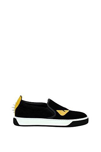 pantoffeln-fendi-herren-wildleder-schwarz-und-gelb-7e09042vbf0y2v-schwarz-40eu