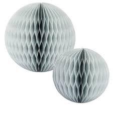 Wabenbälle, grau, 2-er-Set, 12,5 und 18 cm
