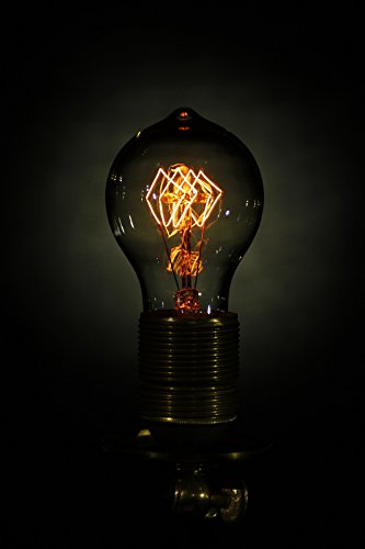 Edison Light Bulb - 40W A19 Quad Loop Filament bulb - Vintage - Shmeer Lighting 4
