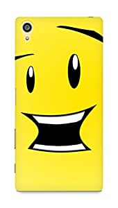 Amez designer printed 3d premium high quality back case cover for Sony Xperia Z5 Premium (smiley face)