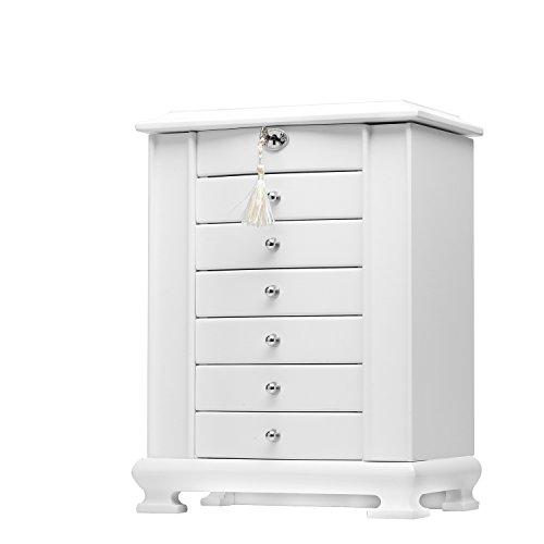 rowling schmuckkasten holz schmuckkoffer mit 6 schubladen. Black Bedroom Furniture Sets. Home Design Ideas