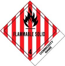 Amazon com 4 quot x 4 3 4 quot flammable solid flammable solids n o s