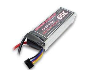 1300mAh 4S 14.8V G6 Pro Power 65C LiPo
