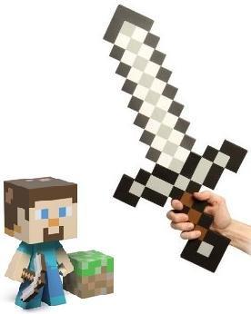 Minecraft Steve Vinyl 6 Figure Foam Sword Set Of 2 from MOJANG