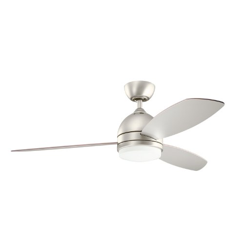 Kichler Lighting 300175NI Vassar 52-Inch Ceiling Fan, Brushed Nickel Finish with Reversible Silver/WalNut, Blades and Integrated Downlight (Silver Fan Blades compare prices)